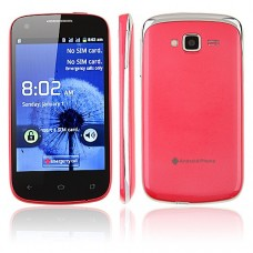 K2 Smart Phone Android 2.3 OS SC6820 4.0 Inch 3.0MP Camera Multi-touch Screen- Pink