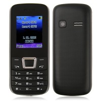 ZTK 2252 Phone Dual Band Dual SIM Card Bluetooth FM Camera 1.8 Inch- Black