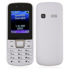 ZTK 2252 Phone Dual Band Dual SIM Card Bluetooth FM Camera 1.8 Inch- White