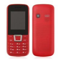 ZTK 2252 Phone Dual Band Dual SIM Card Bluetooth FM Camera 1.8 Inch- Red