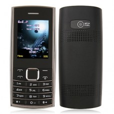 ZTK X2-05 Phone Dual Band Dual SIM Card Bluetooth FM Camera 2.0 Inch- Black