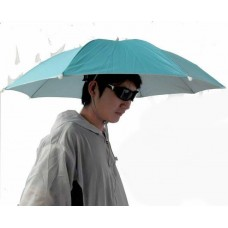 Fishing Outdoor Sports Steel Ribs Polyester Umbrella Hat Color Random