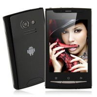 W8 TV Phone Quad Band Dual SIM Card FM Bluetooth Camera 3.2 Inch Touch Screen- Black