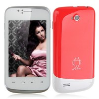 F1658 Smart Phone Android 2.3 SC6820 1.0GHz WiFi 3.5 Inch Capacitive Screen- Red