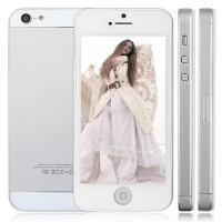 HPhone5 Smart Phone Android 2.3 MTK6515 1.0GHz 4.0 Inch 5.0MP Camera- White