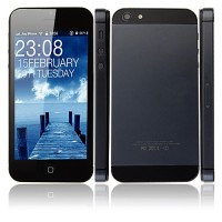 HPhone5 Smart Phone Android 2.3 MTK6515 1.0GHz 4.0 Inch 5.0MP Camera- Black