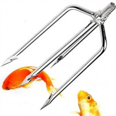 4-Tine Stainless Steel Fish Spear Head Fishing Tool for Fisherman