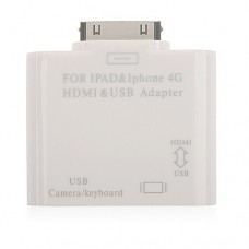 HDMI & USB Adapter For iPad iPhone4 iPod touch4
