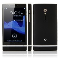 X26+ Smart Phone Android 4.0 MTK6577 Dual Core 3G GPS 8.0MP Camera 4.0 Inch- Black