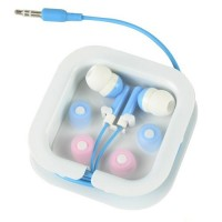 3.5mm Audio In-Ear Earphone Headset -Blue