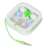 3.5mm Audio In-Ear Earphone Headset -Green