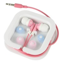 3.5mm Audio In-Ear Earphone Headset -Pink