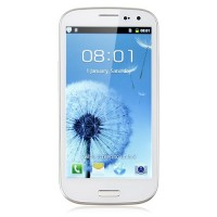I9300 Smart Phone Android 4.0 OS SC6820 1.0GHz 4.7 Inch 2.0MP Camera- White