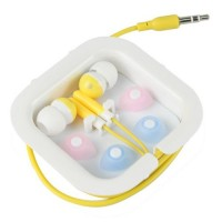 3.5mm Audio In-Ear Earphone Headset -Yellow