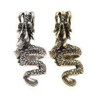 Auspicious Dragon Pattern Retro Style Metal Ring