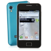 S5830 Smart Phone Android 2.3 OS SC6820 1.0GHz TV WiFi 5.0MP Camera- Blue