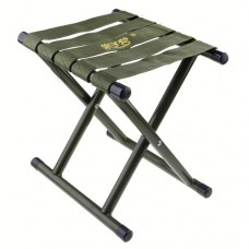 Outdoor Fishing Beach Chair Folding Stool Round Bottom L Size-Army Green