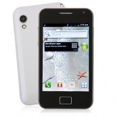 S5830 Smart Phone Android 2.3 OS SC6820 1.0GHz TV WiFi 5.0MP Camera- White