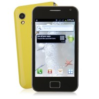 S5830 Smart Phone Android 2.3 OS SC6820 1.0GHz TV WiFi 5.0MP Camera- Yellow