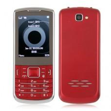 C3782 Dual Band Phone Dual SIM Card TV FM Bluetooth Camera 2.4 Inch- Red