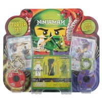 Ninja Man Spinjitzu Starter Set Sensei Wu & Lasha Block Gyro Arena Included