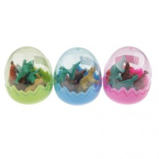 A Set of 3 Dinosaur eggs With Some Dinosaurs