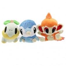 Cute Pokemon Piplup Turtwig Chimchar Soft Plush Stuffed Toys