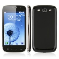 i9300P Quad Band Phone Dual SIM Card WiFi TV FM Bluetooth JAVA 4.0 Inch- Black