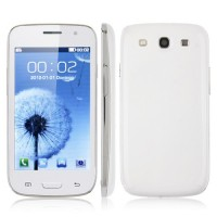 i9300P Quad Band Phone Dual SIM Card WiFi TV FM Bluetooth JAVA 4.0 Inch- White