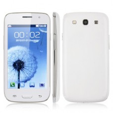 i9300P Quad Band Phone Dual SIM Card WiFi TV FM Bluetooth JAVA 4.0 Inch- White