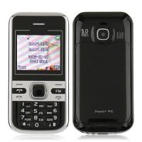 Mini C501 Dual Band Phone Dual SIM Card FM Bluetooth Camera 1.8 Inch- Black