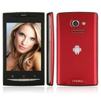 W8 Quad Band Phone Dual SIM Card FM TV Bluetooth Camera Touch Screen- Red