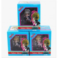3pcs Fate Stay Night Saber Alter 6cm PVC Figure Set