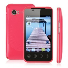 B3000S Smart Phone Android 4.0 MTK6515 GPS WiFi 3.5 Inch Red
