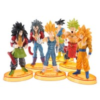 6pcs Cool Dragon Ball PVC Action Figures Toy Set