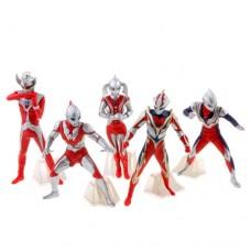 5pcs Cool Ultraman Action Figure Toy Set