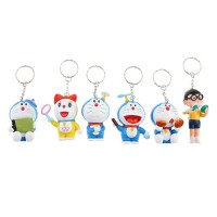 6pcs Cute Doraemon 2.5'' Figures  Kid Toys Plastic  Keychain