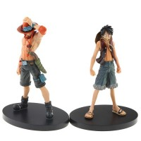2pcs One Piece Luffy Portgas·D·Ace Action Figure Set