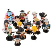 16pcs One Piece Mini Action Figure Set