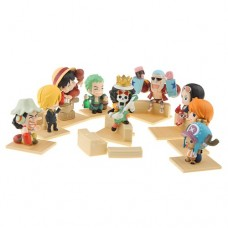 9pcs One Piece Mini Action Figure Set