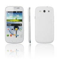 i9300 Smart Phone Android 2.3 SC6820 1.0GHz WiFi TV 4.3 Inch 3.0MP Camera- White