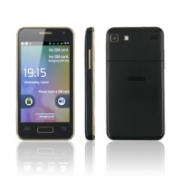 I3000 Smart Phone Android 4.0 MTK6575 3G GPS WiFi 4.0 Inch- Champagne