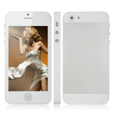 ZTK I5S Dual Band Phone Dual SIM Card TV WiFi Bluetooth JAVA 4 Inch Touch Screen- White