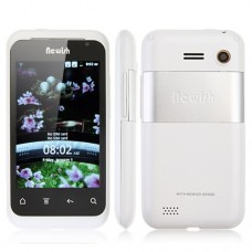 V118 Smart Phone Android 2.3 MTK6513 WiFi 3.5 Inch Muti-touch Screen- White