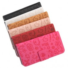 Cute Patterns Leather Protective Case for iPhone 5