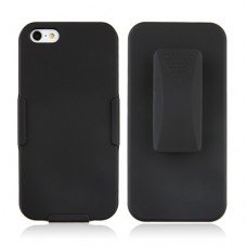 Black Plastic Back Cover Case Stand for iPhone 5