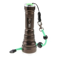 Lotus Head Stainless Steel XML-T6 LED Flashlight 1800 Lumens
