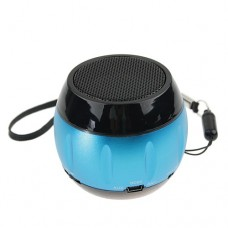 Portable LCD Display Digital Speaker FM Radio TF Card Slot Blue&Black