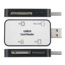 Portable High Speed 4 in 1 SD/Micro SD/MS/M2 Card Reader