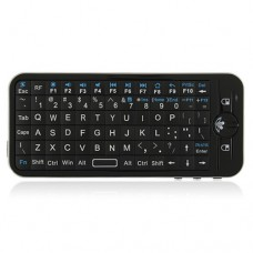 iPazzPort 2.4G Bluetooth Fly/Air Keyboard + IR Remote Control 2 in 1 Black